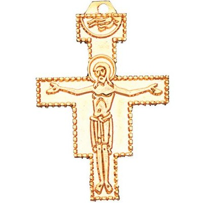 San Damiano Cross Pendant with Chain 1 5/8 inch  -