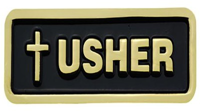 Latin Cross Usher Badge  -