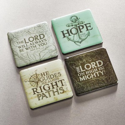 The Lord Will Be With You Always Magnets, Set of 4  -