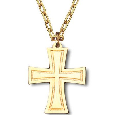 Flared Cross with Chain Pendant  -