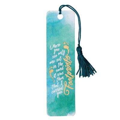 Footprints, Tassel Bookmark  -
