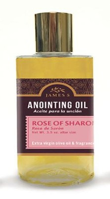 Anointing Oil, Rose of Sharon (3.5 ounce) Altar Size  -
