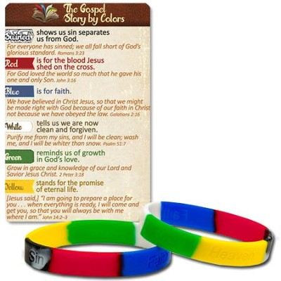 The Gospel Story Stamped Silicone Bracelet and Card  -