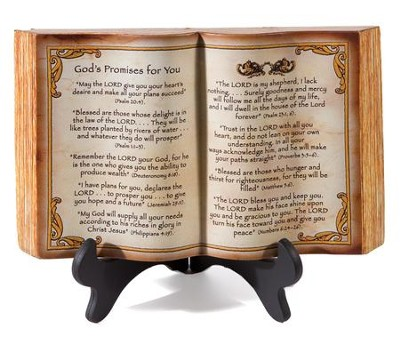 God's Promises for You, Small Book Figurine with Stand  -