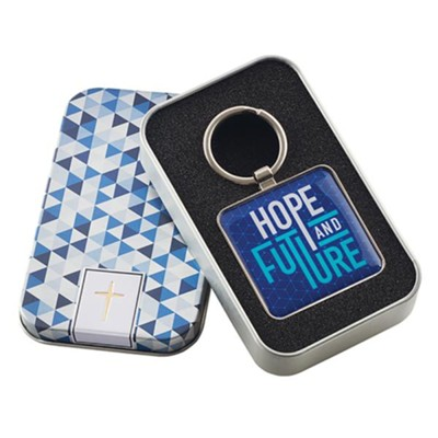 Hope and Future Keyring in Tin  -