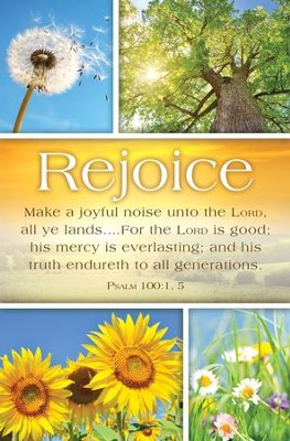 Make A Joyful Noise (Psalm 100:1,5, KJV) Bulletins, 100   -