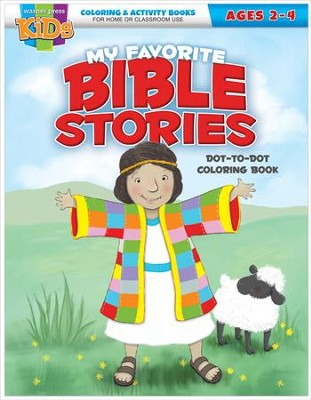 Favorite Bible Stories Dot-to-Dot Activity Book (ages 2-4)  -