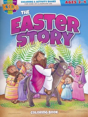The Easter Story Coloring Book (ages 2-4)  -