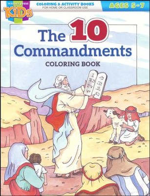 The Ten Commandments Coloring and Activity Book (ages 5-7)  -