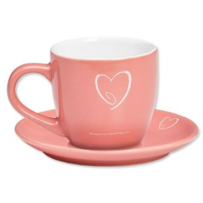 The Steadfast Love of the Lord Never Ceases Mug and Saucer   -
