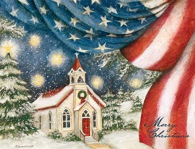 An American Christmas Assorted Christmas Cards, Box of 18  -