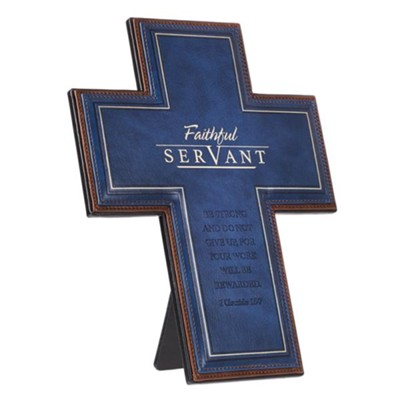 Faithful Servant Cross, Lux Leather  -
