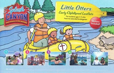 Splash Canyon: Little Otters Early Childhood Leaflets and Stickers (Ages 3-5)  -