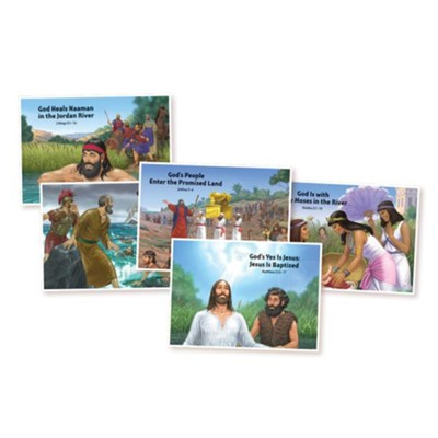 Splash Canyon: Bible Story Posters (5 Unique 22 x17)  -