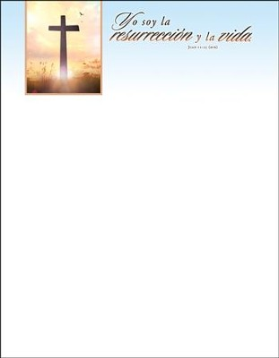 I Am the Resurrection (John 11:25) Spanish Letterhead, 100  -