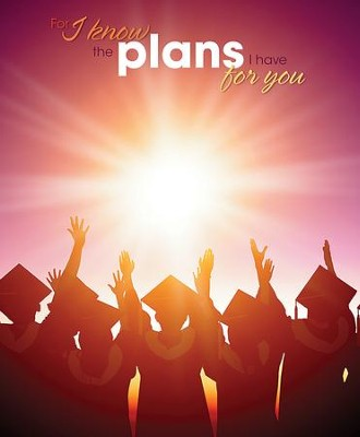 Graduates Sunset (Jeremiah 29:11, NIV) Large Bulletins, 100  -