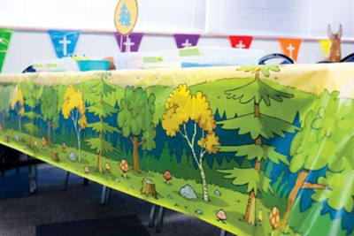 Splash Canyon: Woodland Table Cover  -