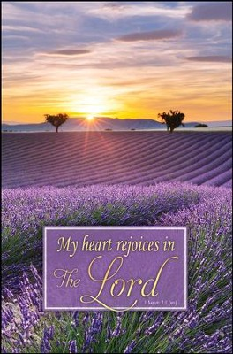 My Heart Rejoices (1 Samuel 2:1, NIV) Bulletins, 100  -