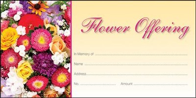 Flower Offering Offering Envelopes, 100  -