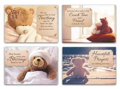 Love bears all kjv box of 12 get well cards christianbook.com