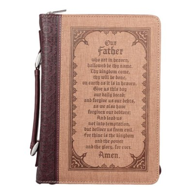 The Lord's Prayer Bible Cover, Large  -