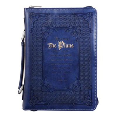 For I Know the Plans I Have For You, Bible Cover, Blue, Large  -