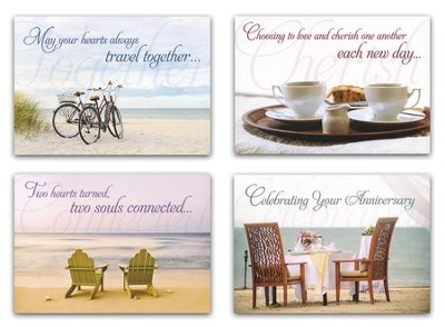 Better Together (NIV) Box of 12 Anniversary Cards  -