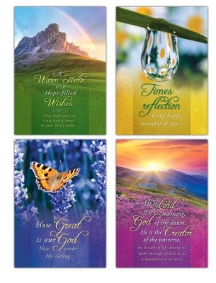 Vibrant Hope (NIV) Box of 12 Encouragement Cards  -