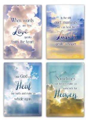 Heavenly Hope (KJV) Box of 12 Sympathy Cards  -