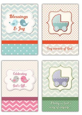 Blessings & Joy (NIV) Box of 12 Baby Congratulations Cards  -
