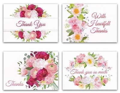 Heartfelt Thanks Kjv Box Of 12 Thank You Cards Christianbook Com