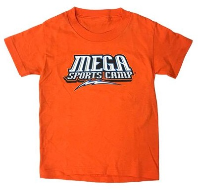 MEGA Sports Camp T-shirt, Adult Small Orange  -     By: My Healthy Church