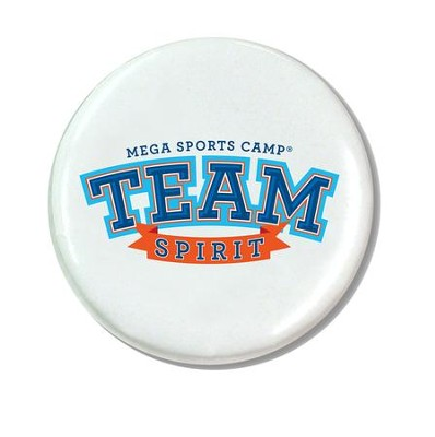 MEGA Sports Camp TEAM Spirit: Theme Button (pkg of 10)  -     By: My Healthy Church