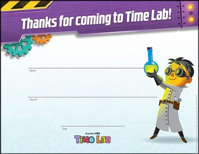 Time Lab: Visitor Certificates (pkg. of 10)  -