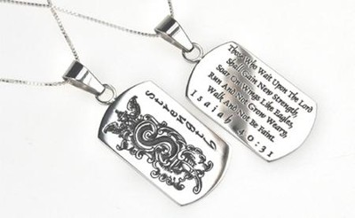 Strength, Letter Dog Tag   -