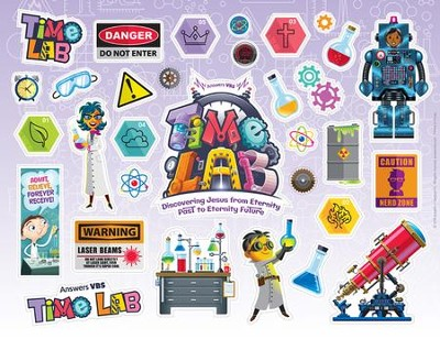 Time Lab: Logo & Clip Art Sticker Sheet (pkg. of 10)  -