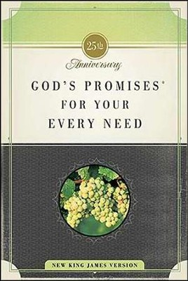 God's Promises for Your Every Need, NKJV: 25th Anniversary Edition (slightly imperfect)  -