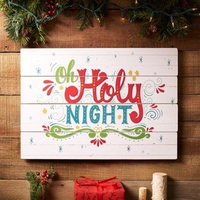 Oh Holy Night, Wall Plaque  -