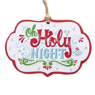Oh Holy Night, Die-Cut Ornament  -