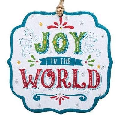 Joy to the World, Die-Cut Ornament  -