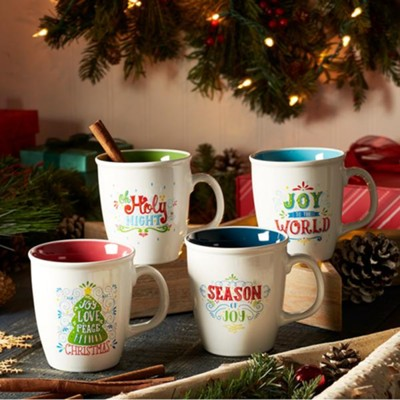 Christmas, Season of Joy Mugs, Set of 4  -