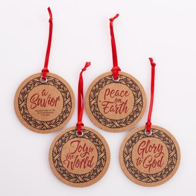 Christmas Wreath, Gift Tags, Set of 16  -