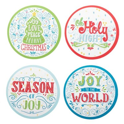 Christmas Coasters, Set of 8  -