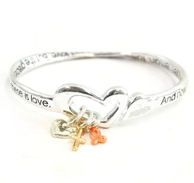 Faith, Hope, Love Mobius Bracelet  -