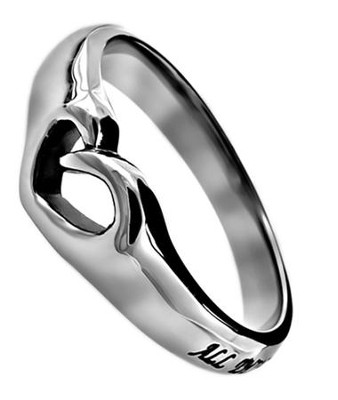 Christ My Strength, Mini Heart Ring, Size 7   -