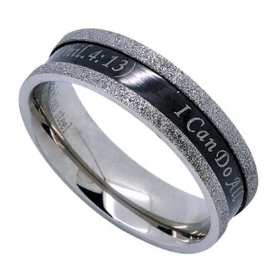 Christ My Strength, Black Champagne Ring, Size 9   -