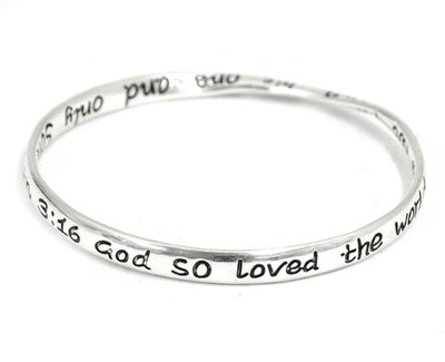 For God So Loved, John 3:16 Mobius Bracelet  -