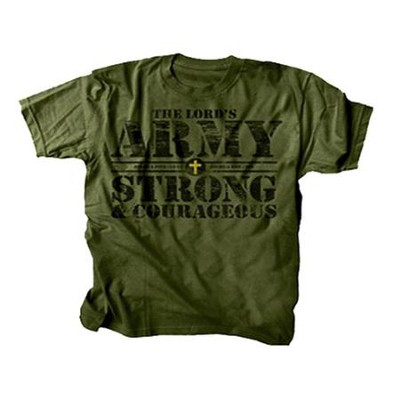 The Lord's Army Shirt, Green, Youth Large  -