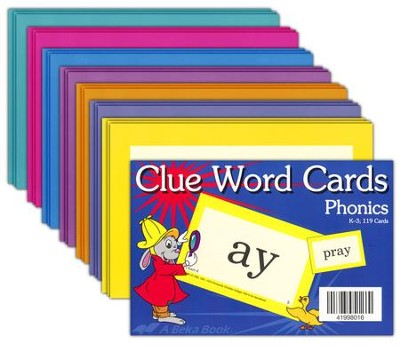Clue Word Cards (Grades K5-3; 119 cards)   -