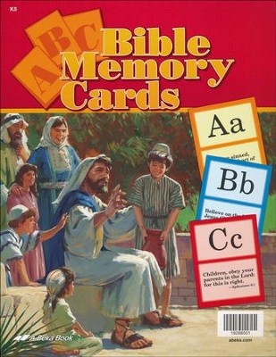 Abeka Large ABC Bible Memory Cards   -
